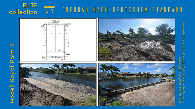 Picture of the lot survey and construction of a seawall