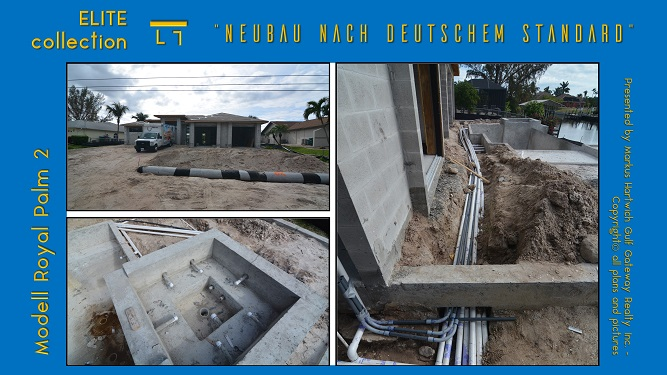 Picture of the installed culvert as well as the pool and spa pipes