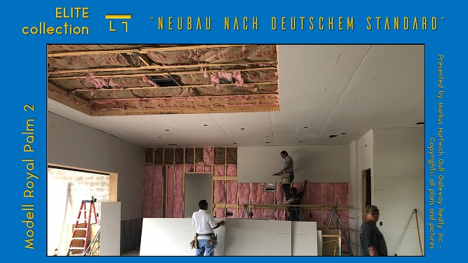 Drywall installed at vacation villa Cape Coral
