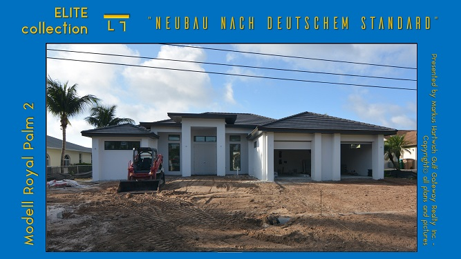 Exterior of new house in Cape Coral gets final grading
