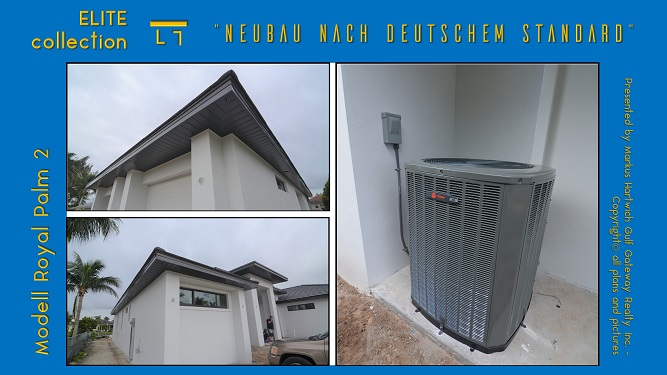 Soffits and air conditioning system installed
