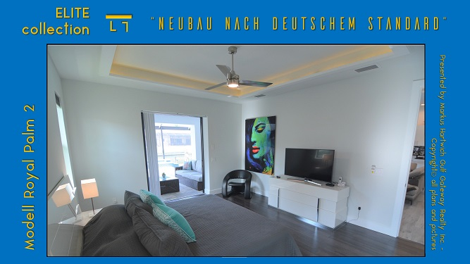 Cape Coral Neubau Modell Royal Palm 2 Hauptschlafzimmer
