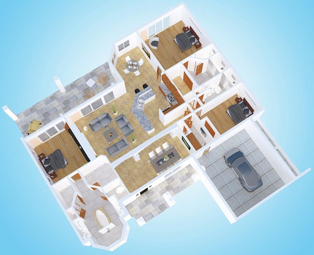 Model Island Oasis Floor plan new home builder