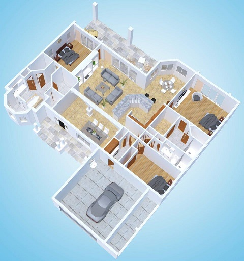 New construction floor plan model island oasis