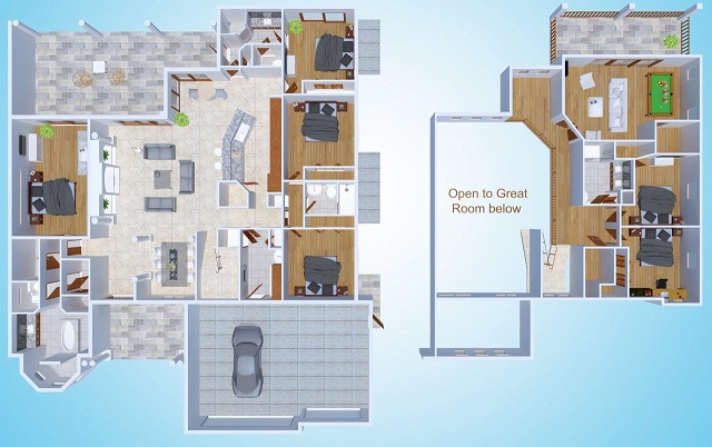 Floor plan Riverside Dream New Home construction in Cape Coral Florida
