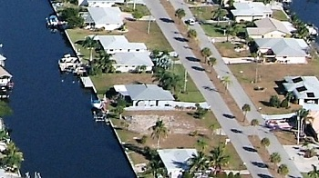 Picture link to gulf access lots for sale in the North of Cape Coral up to $74,999