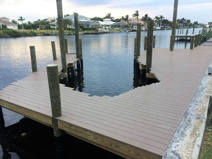 Composite material of boat dock