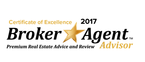 Picture showing the award badge of Broker Agent Advisor 2017