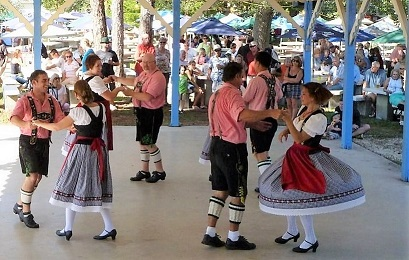 Picture of people dancing at the Cape Coral Octoberfest