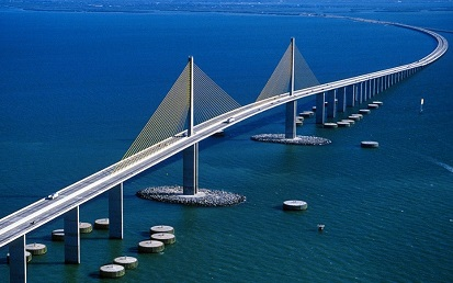 Picture showing the Florida Sunshine Skyway Bridge