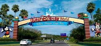 Picture showing the entrance of Disney World in Florida