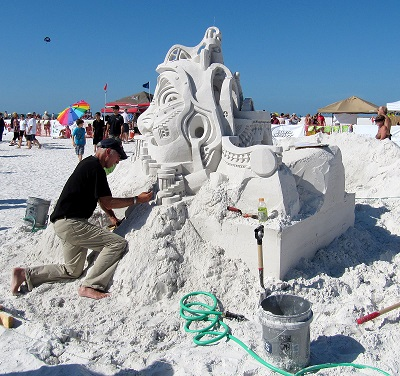 Sandsculpting Fort Myers Beach