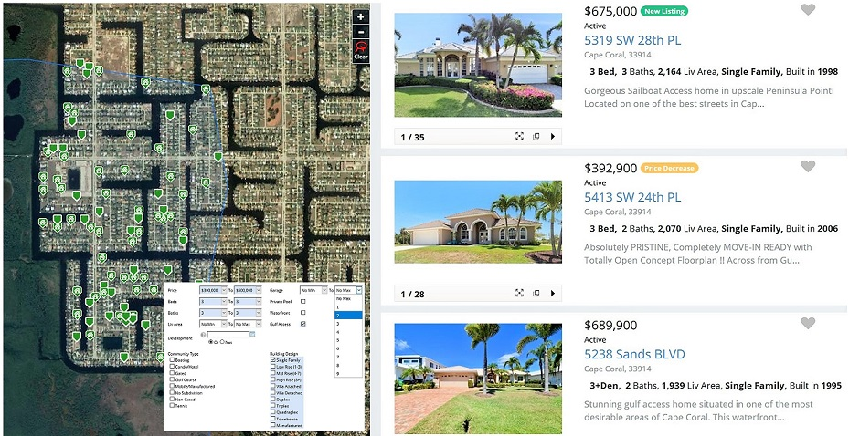 MLS Datenbank Suche Immobilien Cape Coral Florida