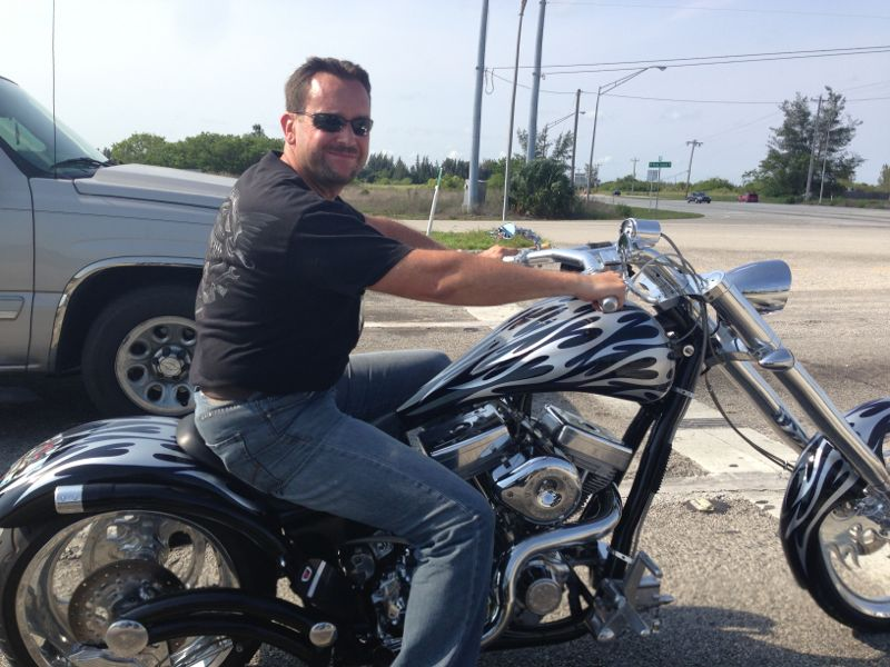 Picture showing of Markus Hartwich driving his motorcycle