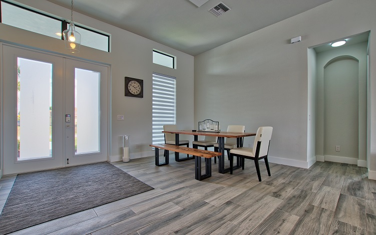 Picture of the New Construction Model Beach Cove viewing the dining area