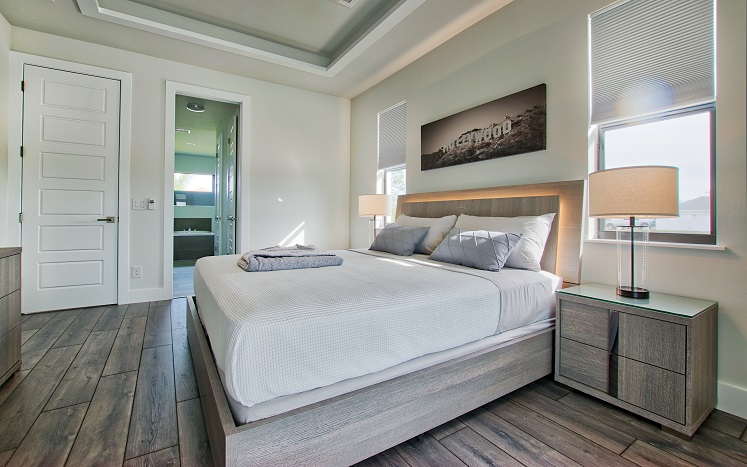 Picture 2 of the New Construction Model Beach Cove viewing the master bedroom