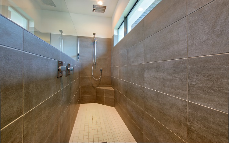 Picture of the New Construction Model Beach Cove viewing the master shower