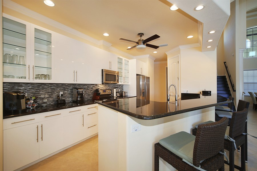 Custom home by Cape Coral home builder kitchen