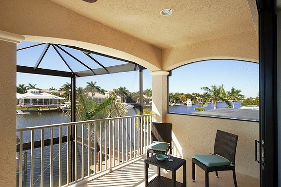 new construction cape coral Model patio terrace upstairs