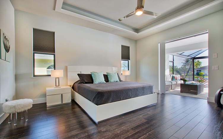 Picture of the New Construction Model Royal Palm 2 viewing the master bedroom