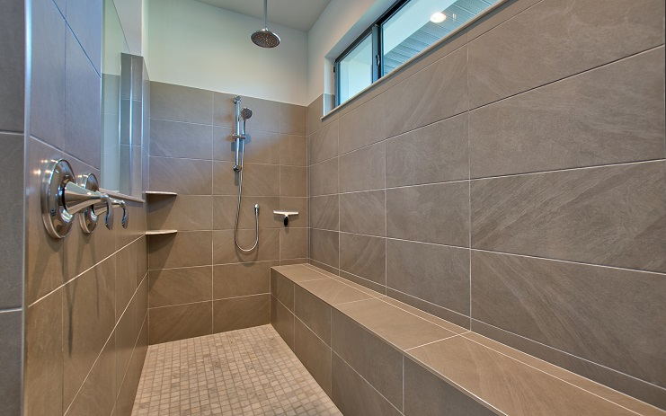 Picture of the New Construction Model Royal Palm 2 viewing the master shower