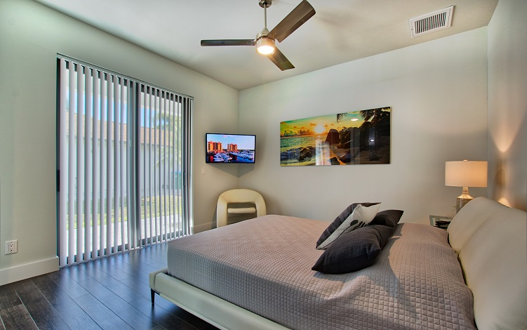 Picture of the New Construction Model Royal Palm 2 viewing the guest bedroom 2