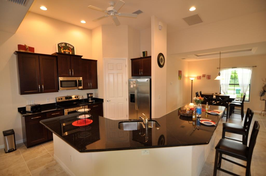 Picture of the New Construction Model Tropical Hideaway showing the kitchen and countertops