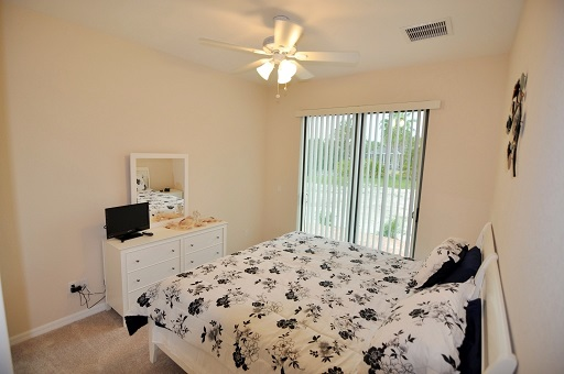 Picture of the New Construction Model Tropical Hideaway showing the guest bedroom 2