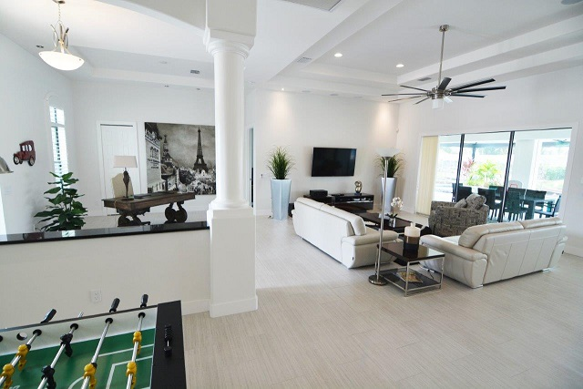 Picture of the New Construction Model Coral Laguna 2 showing the living area