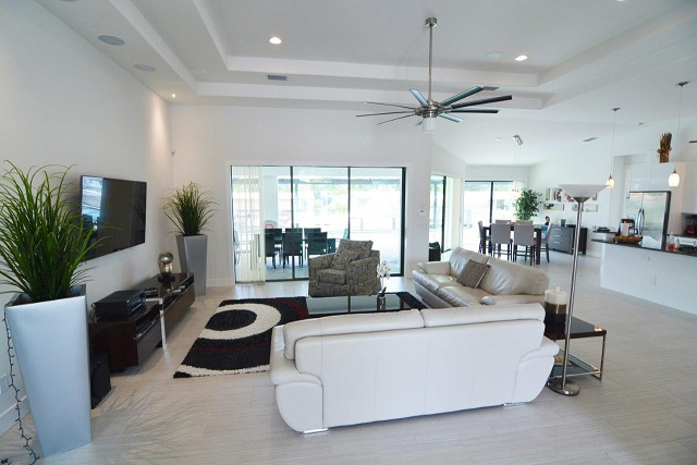 Picture of the New Construction Model Coral Laguna 2 showing the living room area