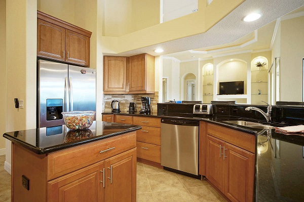 Custom New Construction Home Cape Coral Ocean Shell Kitchen