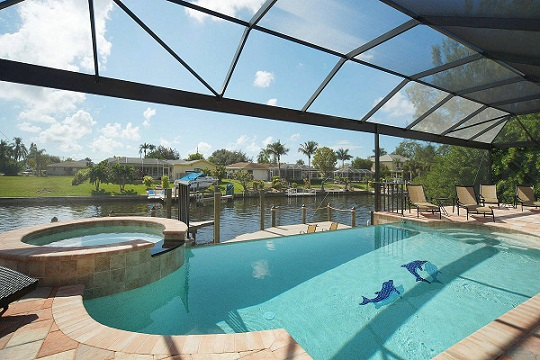 Cape Coral New Construction Home pool Ocean Shell