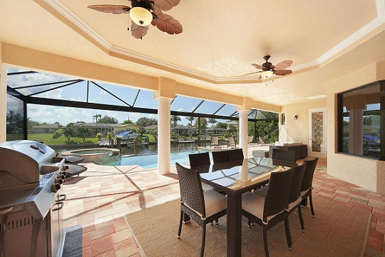 new construction homes in cape coral florida lanai with summer kitchen