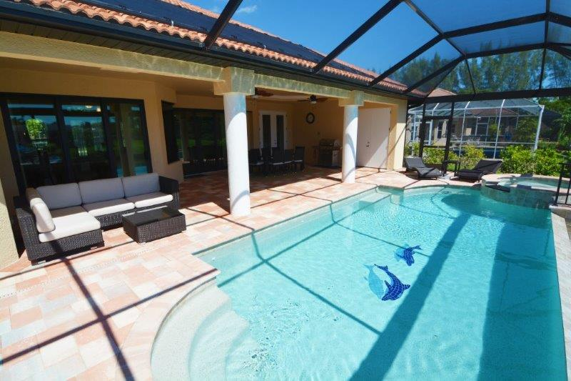 Neubau Villa Cape Coral Modell Ocean Shell Pool Screen