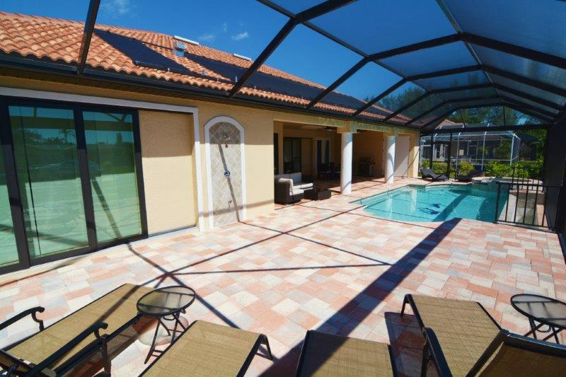 Cape Coral New Construction Home Pool deck