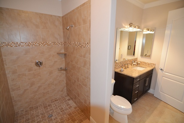 Picture of the New Construction Model Sunset Bay 2 version 1 showing the guest bathroom 2