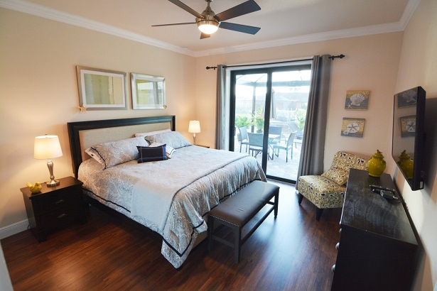 Picture of the New Construction Model Sunset Bay 2 version 1 showing the guest bedroom 1