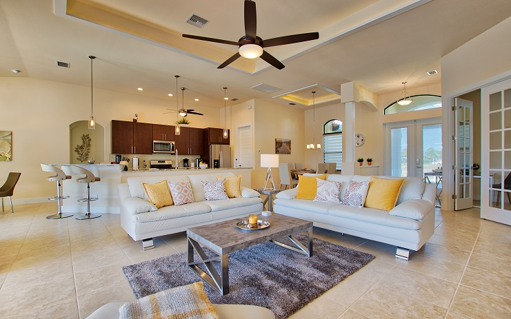Picture of the New Construction Model Sunset Bay 2 version 2 showing the living room