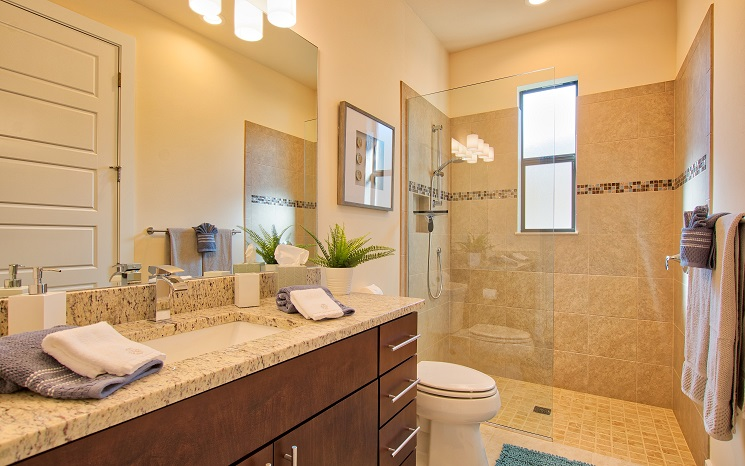 Picture of the New Construction Model Sunset Bay 2 version 2 showing the guest bathroom