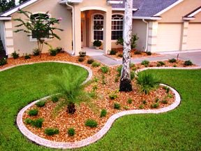 Picture of a well taken care of property outside showing the curb appeal