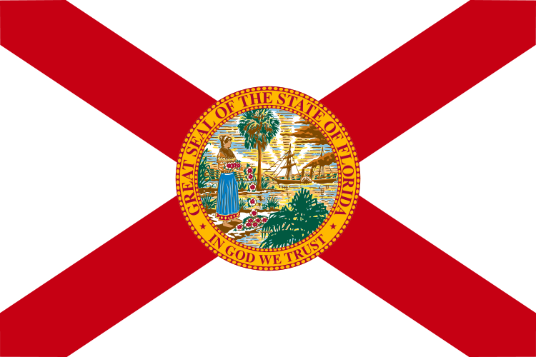 Picture showing the Florida flag