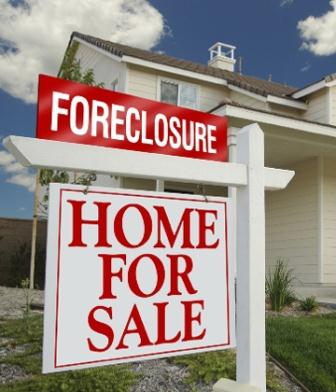 Picture of a foreclosure yard sign