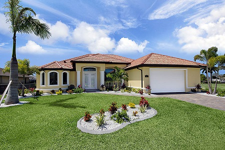 New construction model Cape Coral mode island oasis front