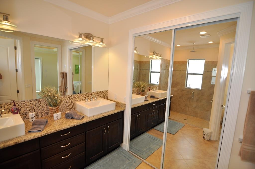 cape coral builder new home model bathroom with closet