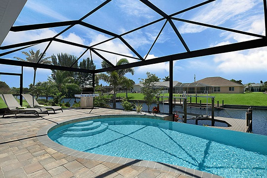 Cape Coral New Construction Home Pool